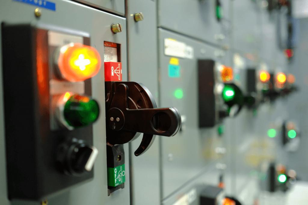 Estación de control de la energía eléctrica