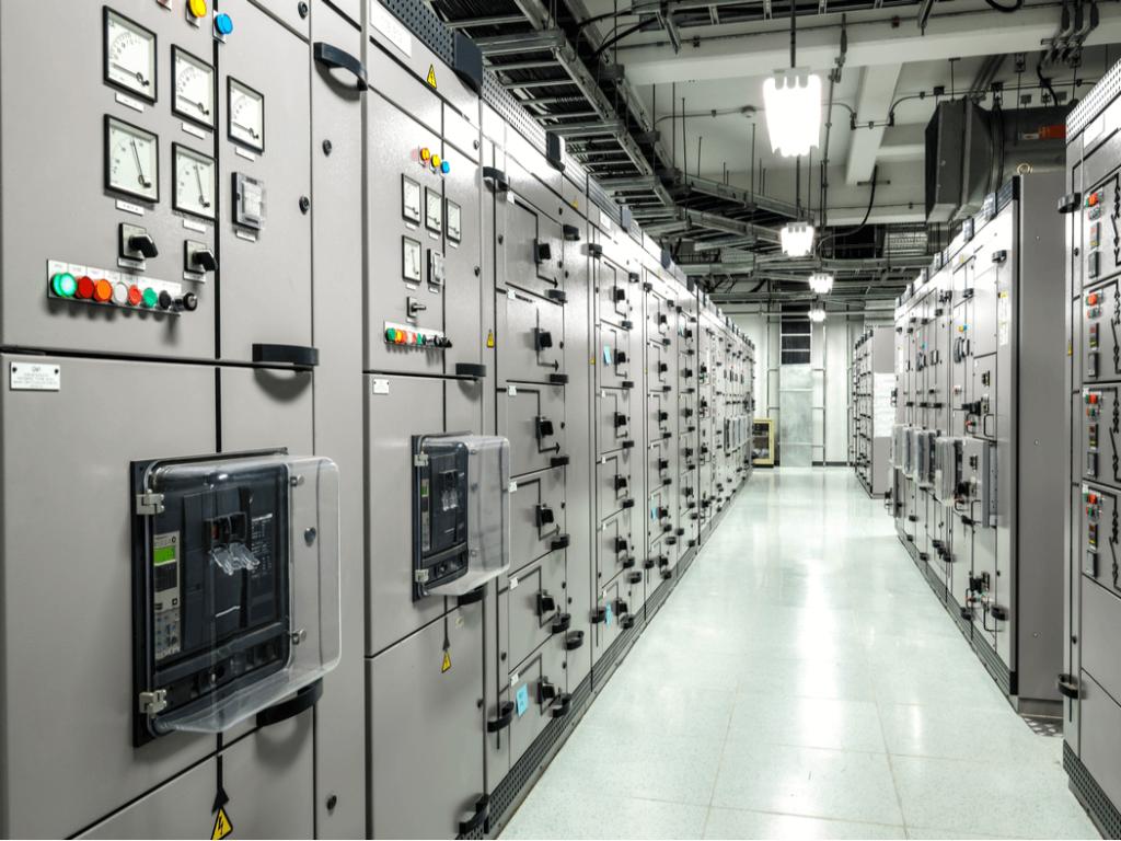 Panel de interruptores eléctricos industriales