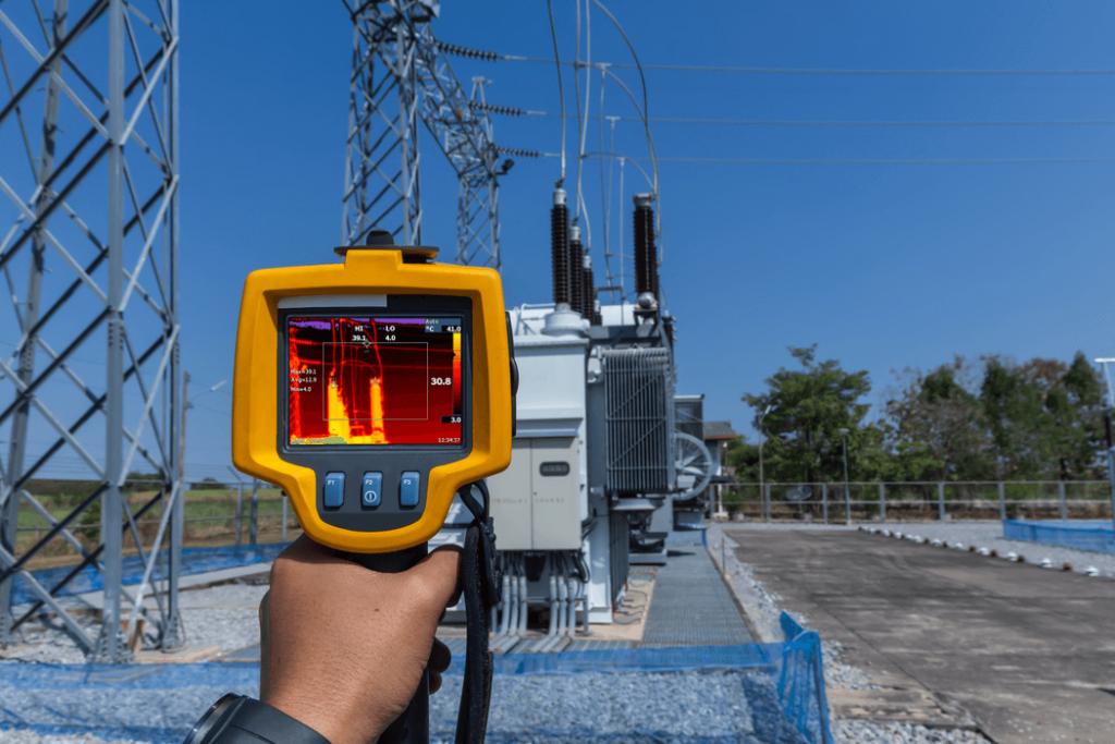 inspección termográfica de planta electrica izquierdo
